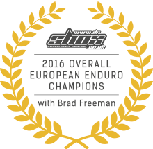 2016 Overall European Enduro Champion - Brad Freeeman