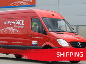 Bike parts shipping by Parcel Force